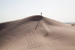 William LeGoullon: Man on Dunes