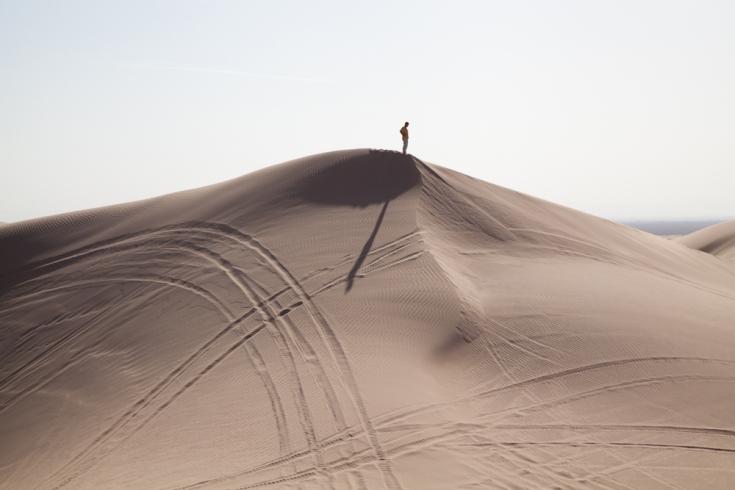 William LeGoullon: Man on Dunes