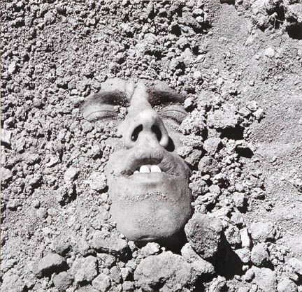 Untitled (Face in Dirt) 1990_24.75x25.5
