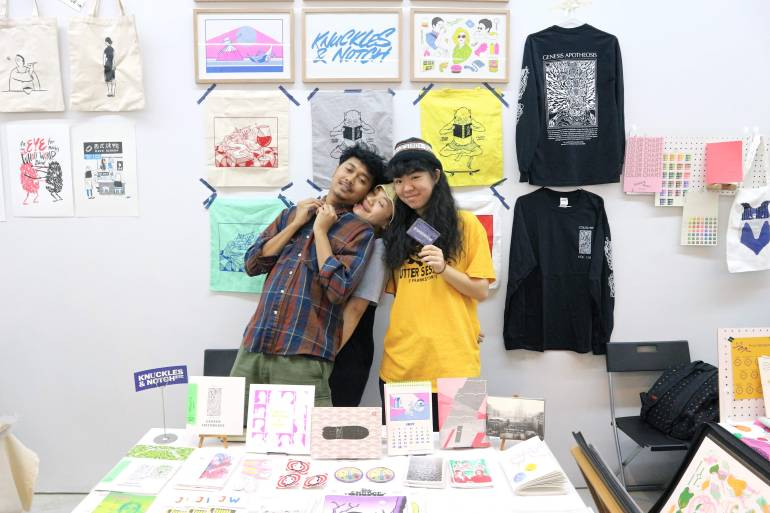 Knuckles and Notch at 2018 Singapore Art Book Fair